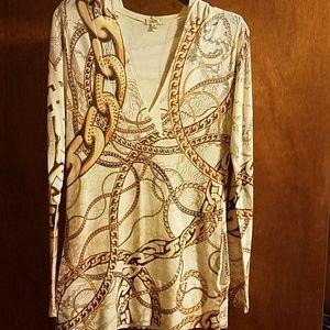 Cach'e Sweater with Rhinestone